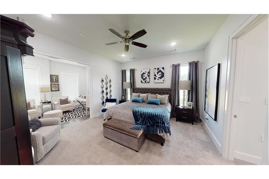 Master Bedroom of this 3-Bedroom,3374 Sq Ft Plan -153-1808