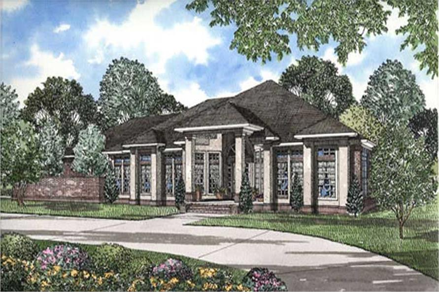 FRONT ELEVATION of this 3-Bedroom,3374 Sq Ft Plan -3374