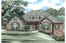 This is an artist's rendering of these European House Plans.