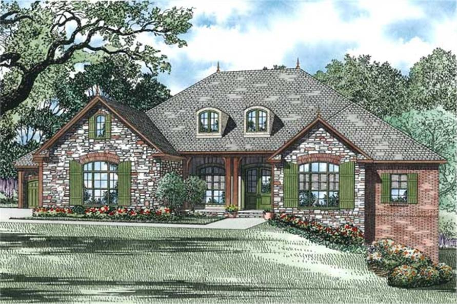 153 1809 this is an artists rendering of these european house plans - 1 Story French Country House Plans