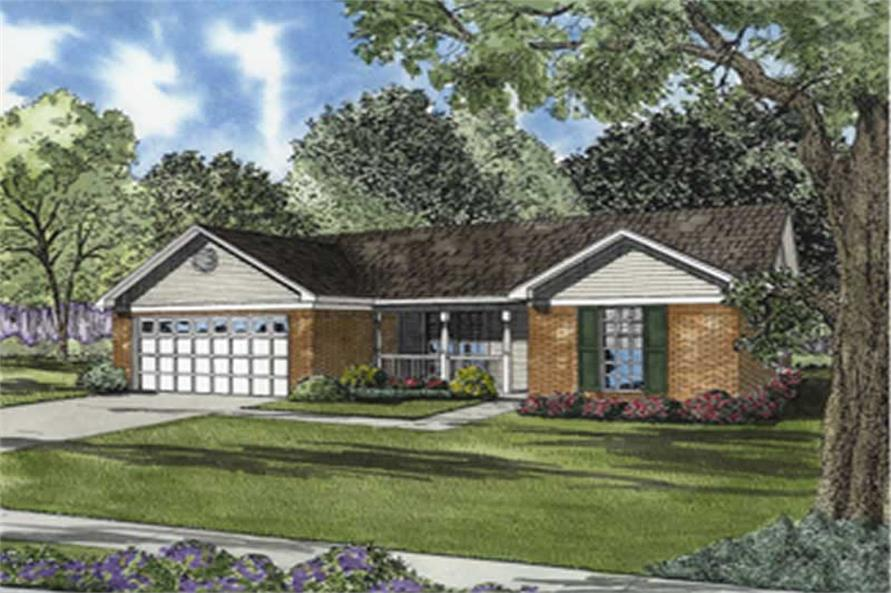 3-Bedroom, 1203 Sq Ft Ranch Home Plan - 153-1810 - Main Exterior