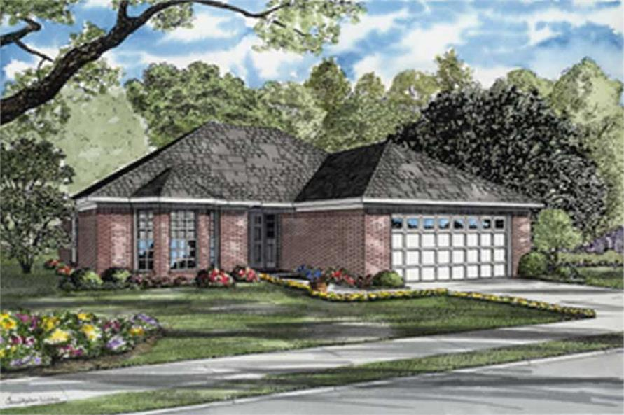 3-Bedroom, 1424 Sq Ft European Home Plan - 153-1811 - Main Exterior