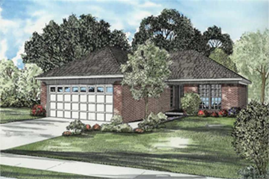 2-Bedroom, 989 Sq Ft Ranch Home Plan - 153-1813 - Main Exterior