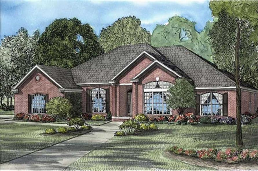 4-Bedroom, 2671 Sq Ft European Home Plan - 153-1815 - Main Exterior