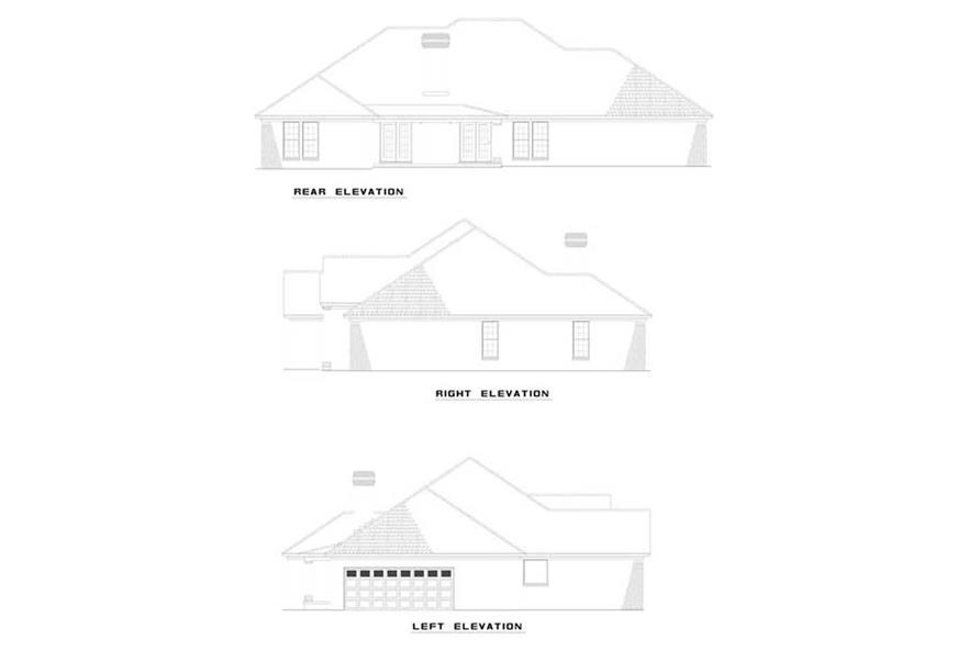 Home Plan Rear Elevation of this 4-Bedroom,2671 Sq Ft Plan -153-1815