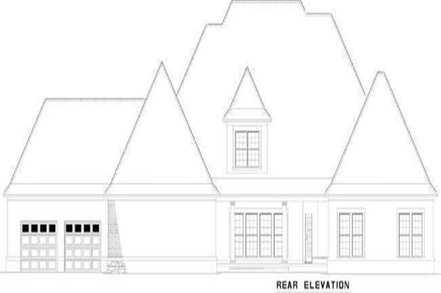 Home Plan Rear Elevation of this 4-Bedroom,5726 Sq Ft Plan -153-1817