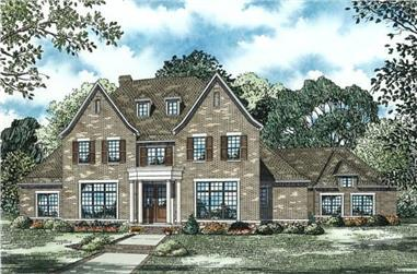 4-Bedroom, 5726 Sq Ft Luxury Home Plan - 153-1817 - Main Exterior