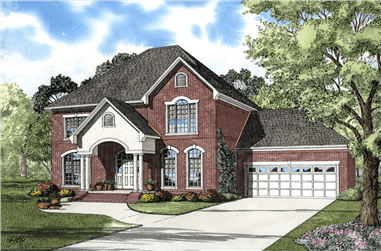 4-Bedroom, 2593 Sq Ft Traditional Home Plan - 153-1819 - Main Exterior