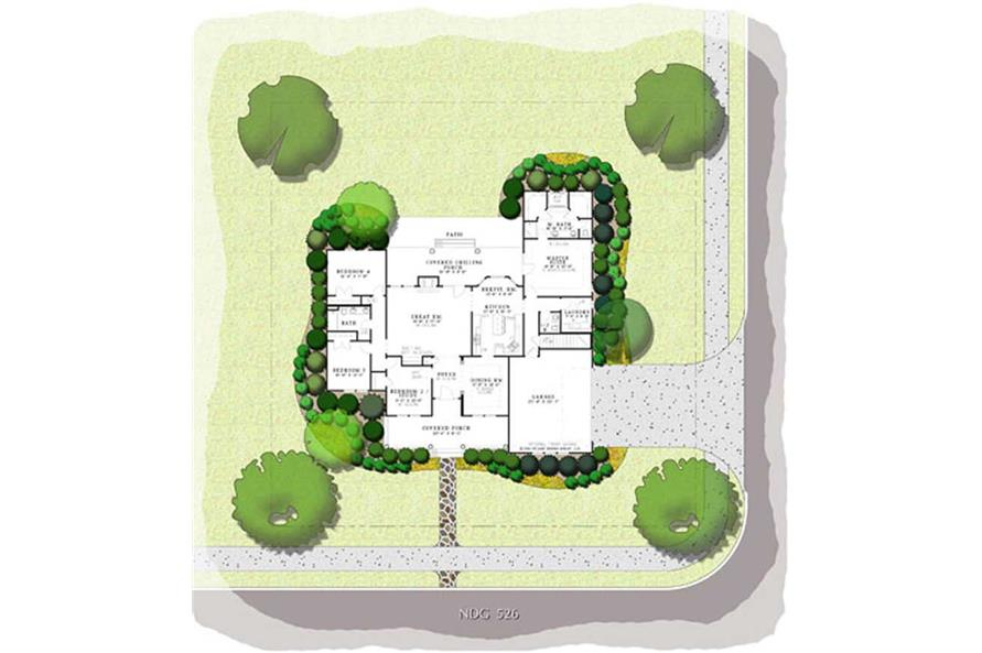 PRESENTATION FLOOR PLAN of this 4-Bedroom,2261 Sq Ft Plan -2261