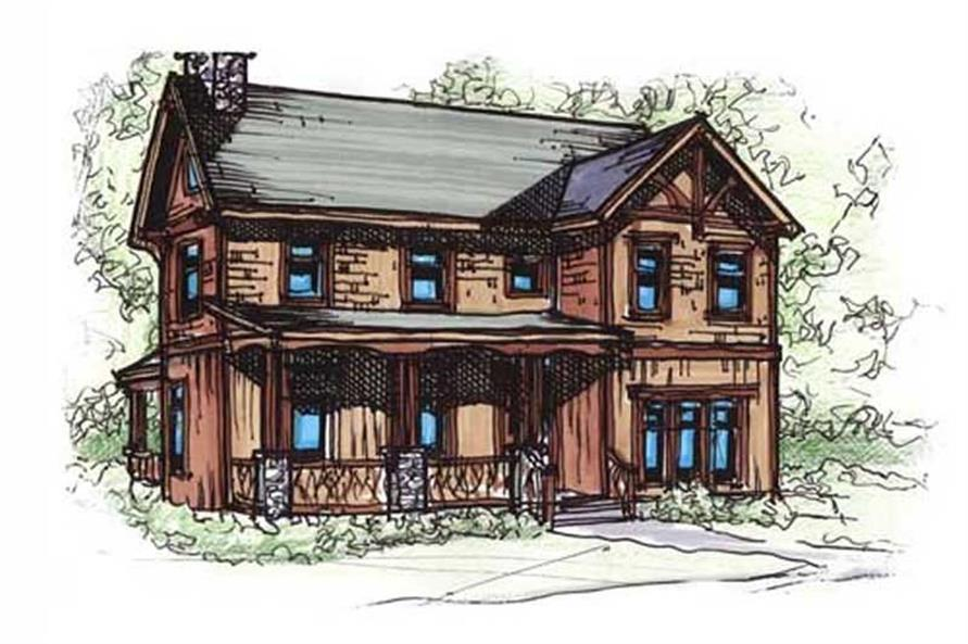Home Plan Rendering of this 3-Bedroom,1559 Sq Ft Plan -153-1824