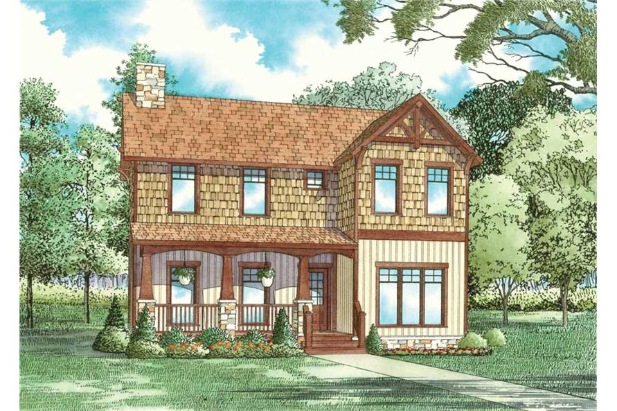 3-Bedroom, 1559 Sq Ft Country Home Plan - 153-1824 - Main Exterior