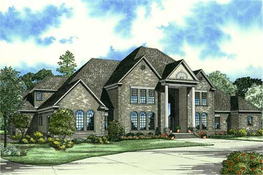 3-Bedroom, 7045 Sq Ft Shingle Home Plan - 153-1827 - Main Exterior