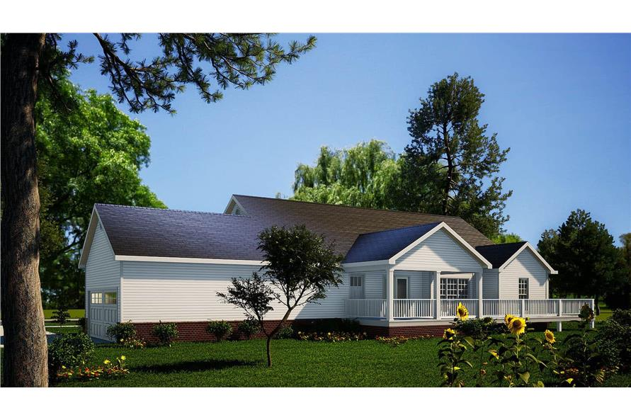 Rear View of this 3-Bedroom,1921 Sq Ft Plan -153-1828