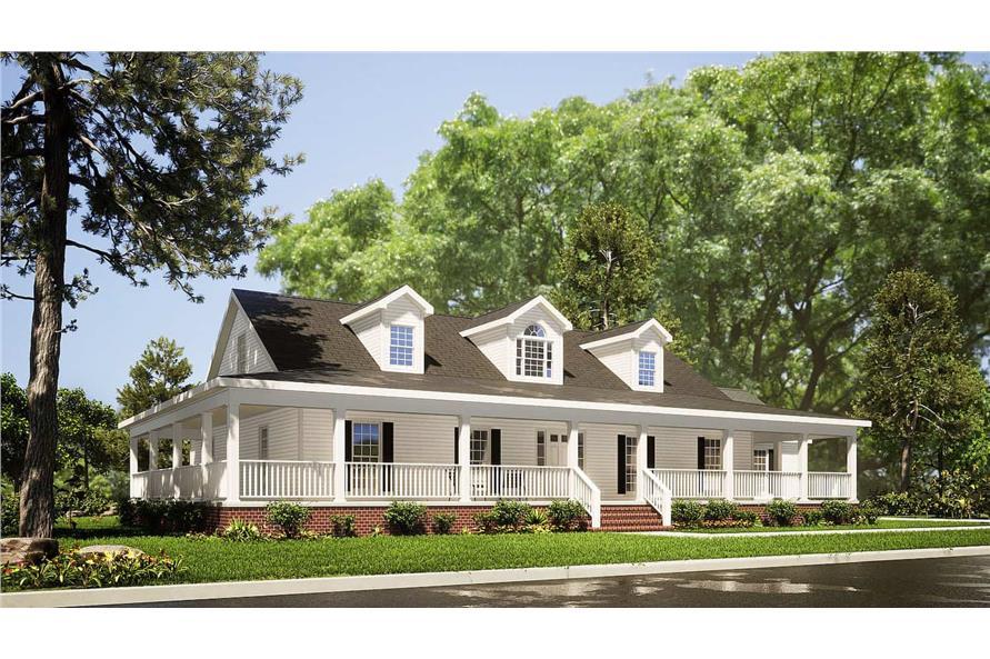 Left View of this 3-Bedroom,1921 Sq Ft Plan -153-1828