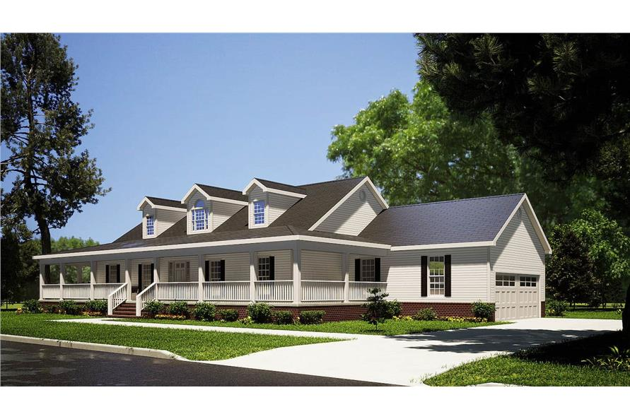 Right View of this 3-Bedroom,1921 Sq Ft Plan -153-1828