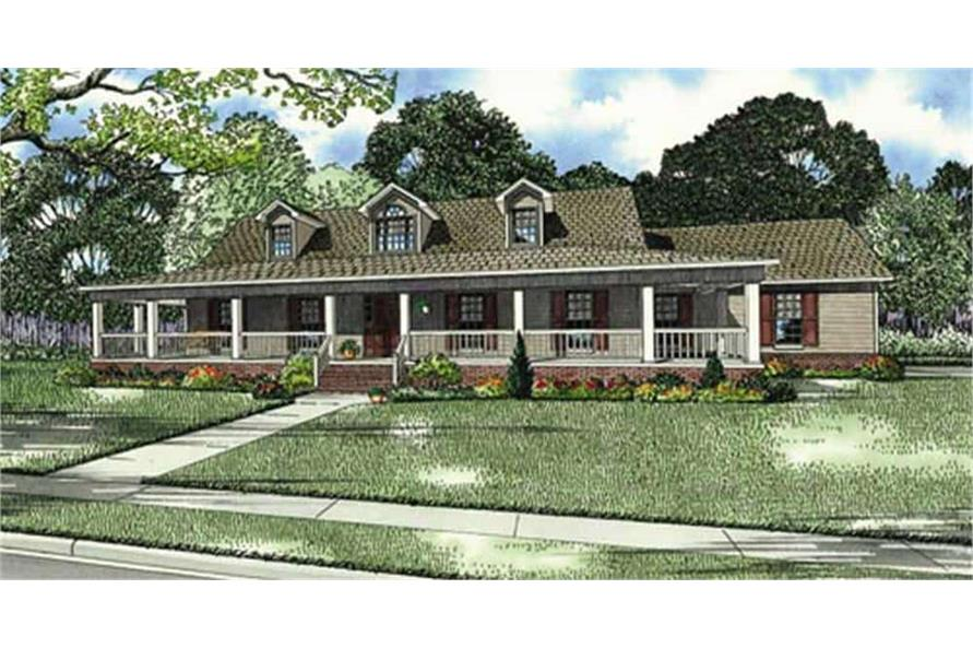 Front View of this 3-Bedroom,1921 Sq Ft Plan -153-1828