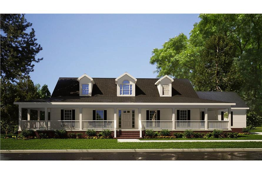 3-Bedroom, 2733 Sq Ft Cape Cod House - Plan #153-1828 - Front Exterior
