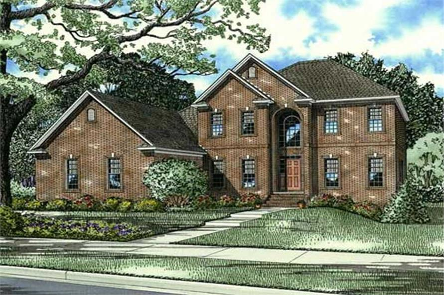 5-Bedroom, 3643 Sq Ft Colonial Home Plan - 153-1830 - Main Exterior