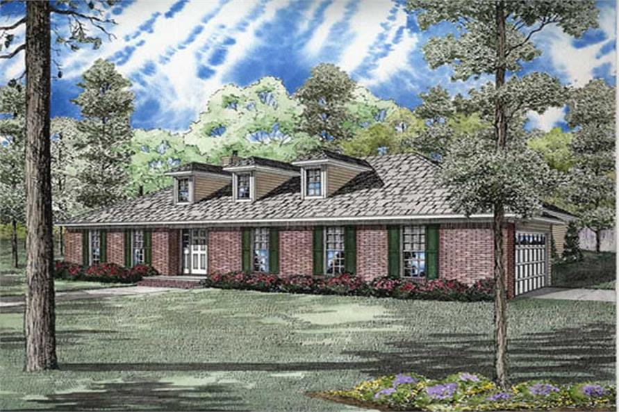 3-Bedroom, 2151 Sq Ft Home Plan - 153-1832 - Main Exterior