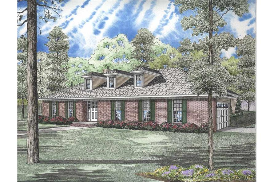 3-Bedroom, 2161 Sq Ft Ranch House Plan - 153-1832 - Front Exterior