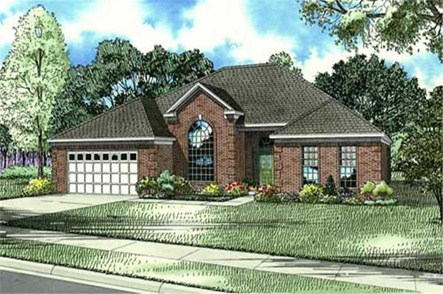 4-Bedroom, 2319 Sq Ft Home Plan - 153-1833 - Main Exterior