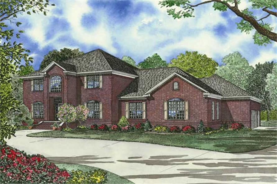 4-Bedroom, 4468 Sq Ft Luxury Home Plan - 153-1834 - Main Exterior