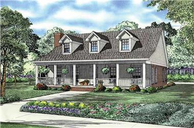 2-Bedroom, 1712 Sq Ft House Plan - 153-1835 - Front Exterior