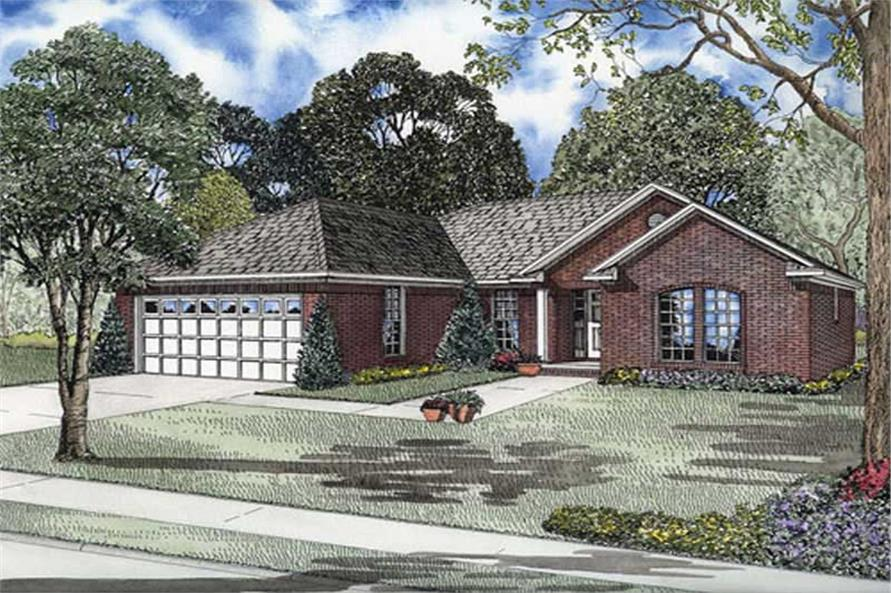 3-Bedroom, 1519 Sq Ft House Plan - 153-1837 - Front Exterior