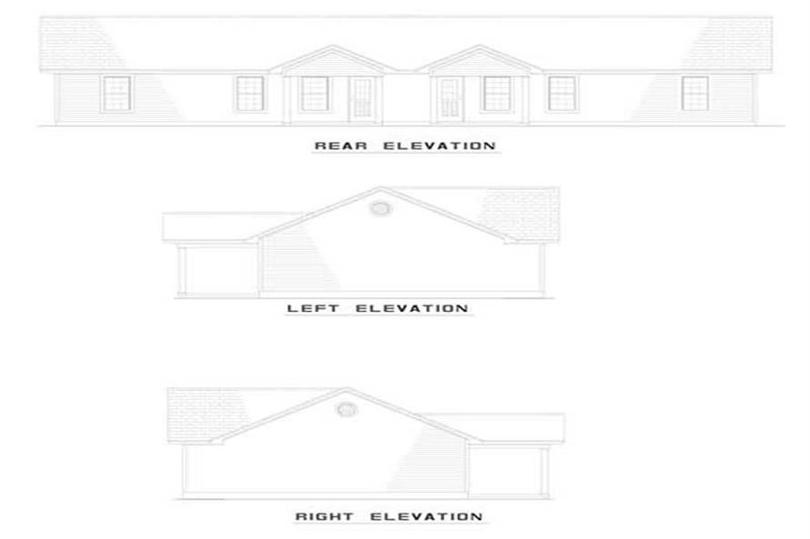 EXTERIOR ELEVATIONS of this 3-Bedroom,930 Sq Ft Plan -930