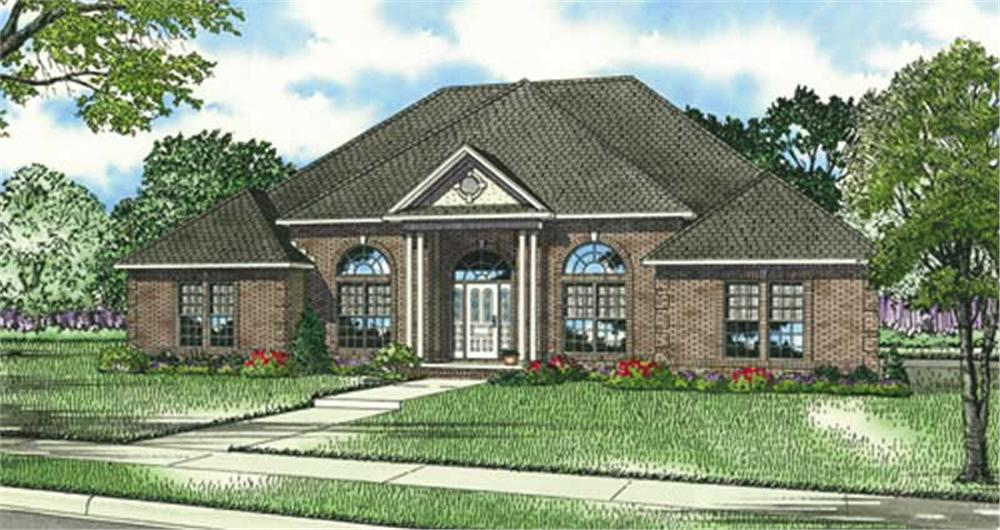 Front elevation of Traditional home (ThePlanCollection: House Plan #153-1839)