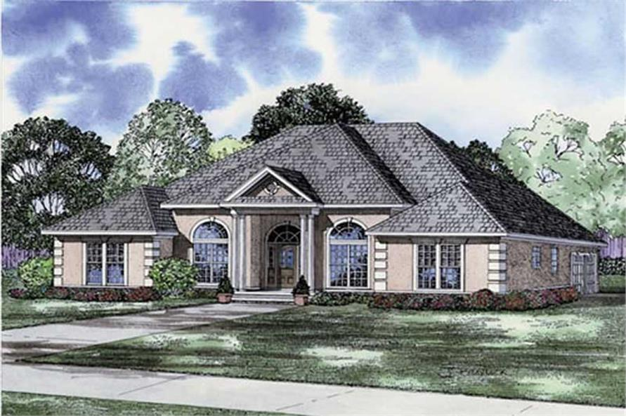 Home Plan Rendering of this 3-Bedroom,2525 Sq Ft Plan -153-1839