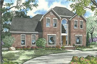 4-Bedroom, 2802 Sq Ft French Home Plan - 153-1840 - Main Exterior