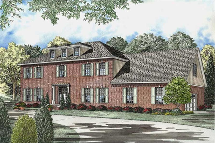 4-Bedroom, 3099 Sq Ft Luxury Home Plan - 153-1841 - Main Exterior