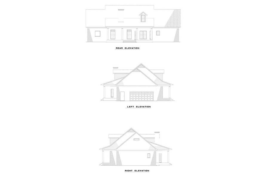 Home Plan Rear Elevation of this 5-Bedroom,2698 Sq Ft Plan -153-1842