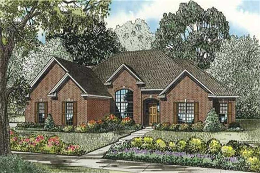 4-Bedroom, 2280 Sq Ft Southern House Plan - 153-1844 - Front Exterior