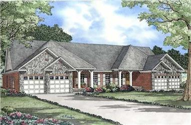 3-Bedroom, 1504 Sq Ft Multi-Unit Home Plan - 153-1846 - Main Exterior
