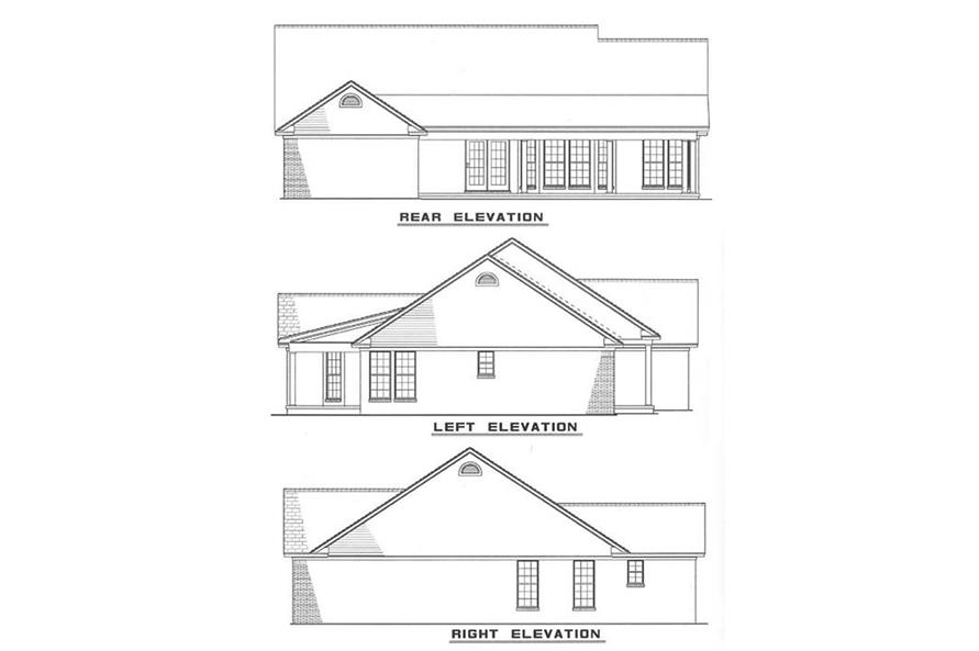 ELEVATIONS of this 3-Bedroom,1525 Sq Ft Plan -1525