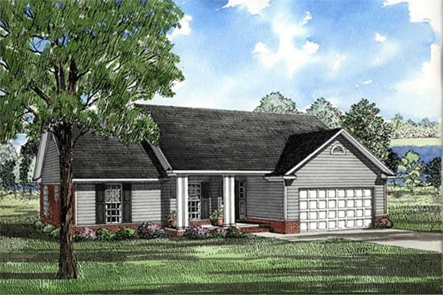 3-Bedroom, 1525 Sq Ft Small House Plans - 153-1848 - Main Exterior