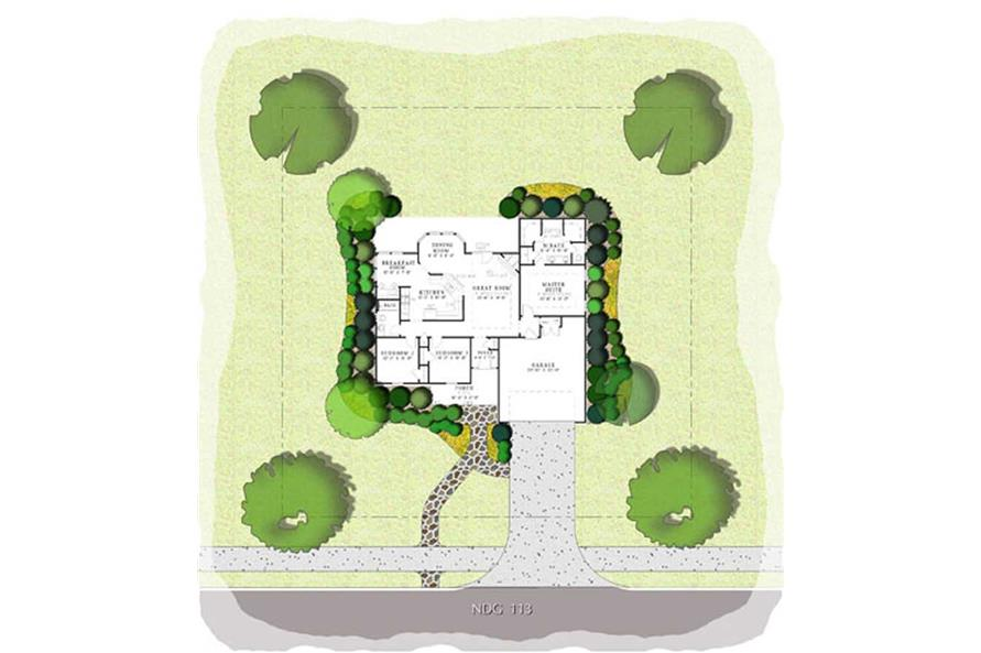 PRESENTATION FLOOR PLAN of this 3-Bedroom,1525 Sq Ft Plan -1525