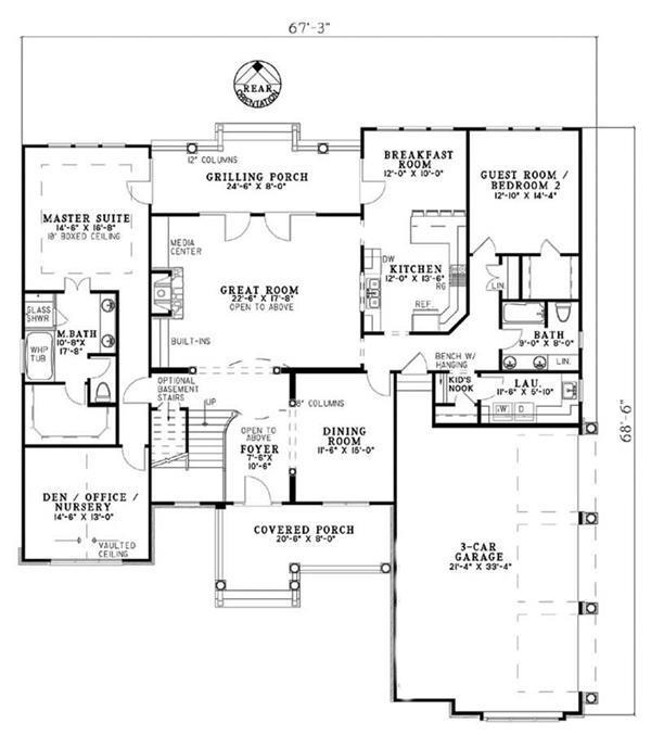 153-1849: Floor Plan Main Level