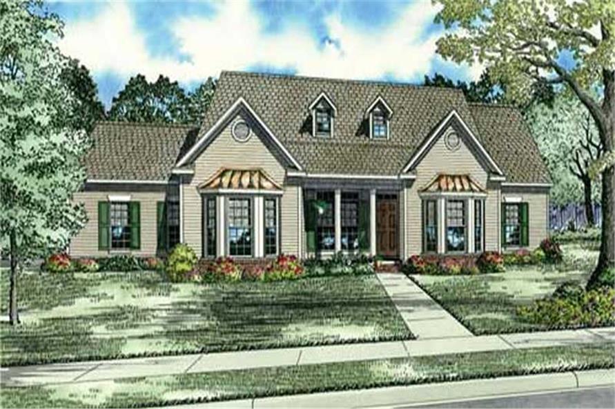 3-Bedroom, 2636 Sq Ft Home Plan - 153-1850 - Main Exterior