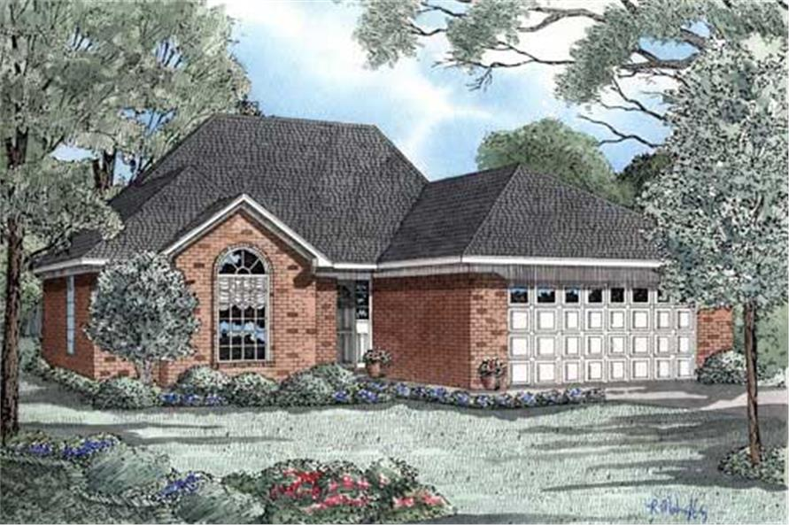 3-Bedroom, 1461 Sq Ft Small House Plans - 153-1851 - Main Exterior