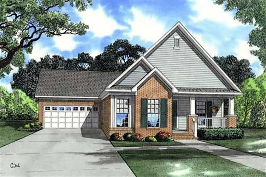 3-Bedroom, 1262 Sq Ft Country Home Plan - 153-1852 - Main Exterior