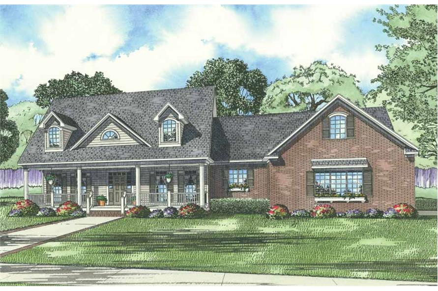 5-Bedroom, 3155 Sq Ft House Plan - 153-1853 - Front Exterior