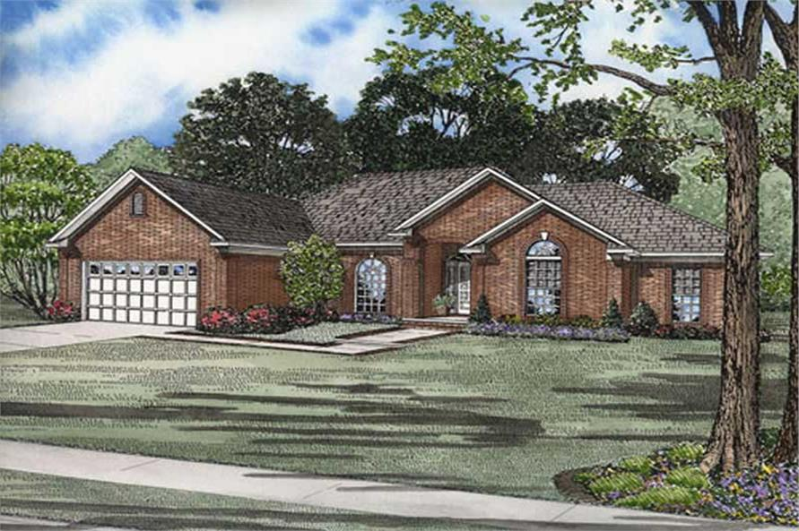 4-Bedroom, 2007 Sq Ft Home Plan - 153-1854 - Main Exterior