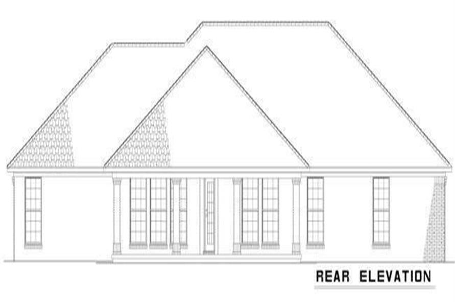 Home Plan Rear Elevation of this 4-Bedroom,2007 Sq Ft Plan -153-1854