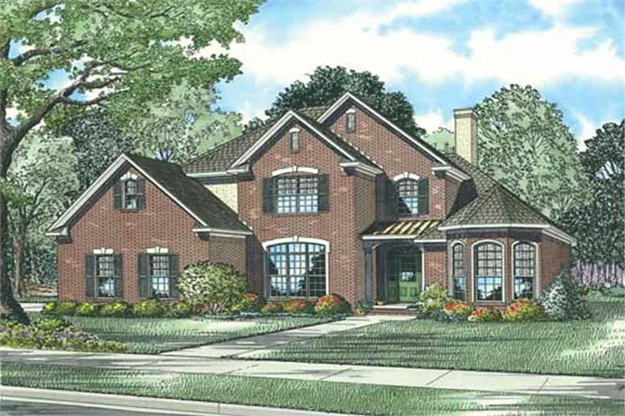 5-Bedroom, 2585 Sq Ft Home Plan - 153-1856 - Main Exterior