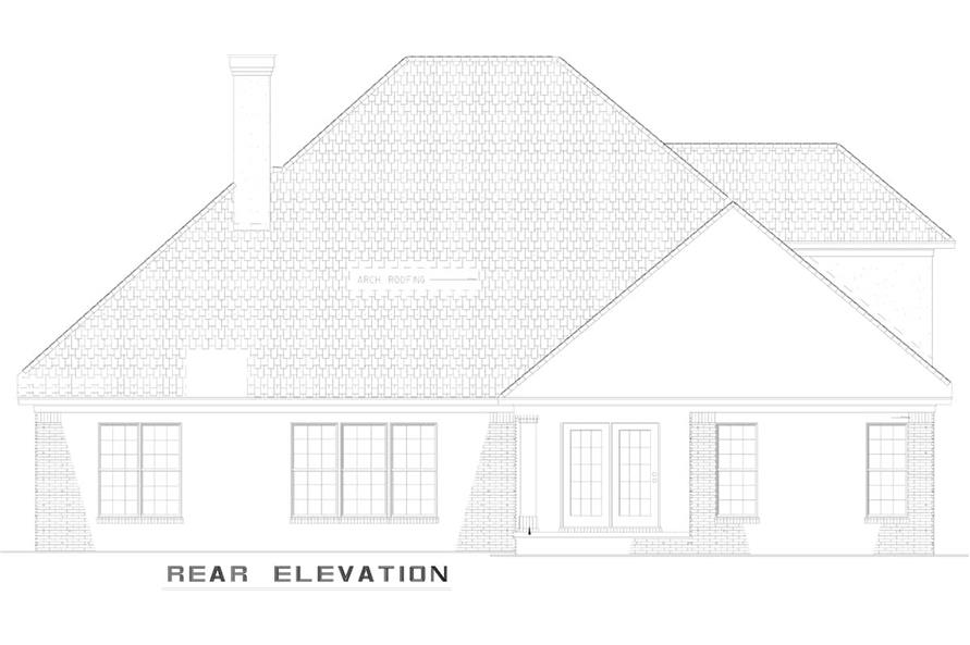 Home Plan Rear Elevation of this 4-Bedroom,2585 Sq Ft Plan -153-1856