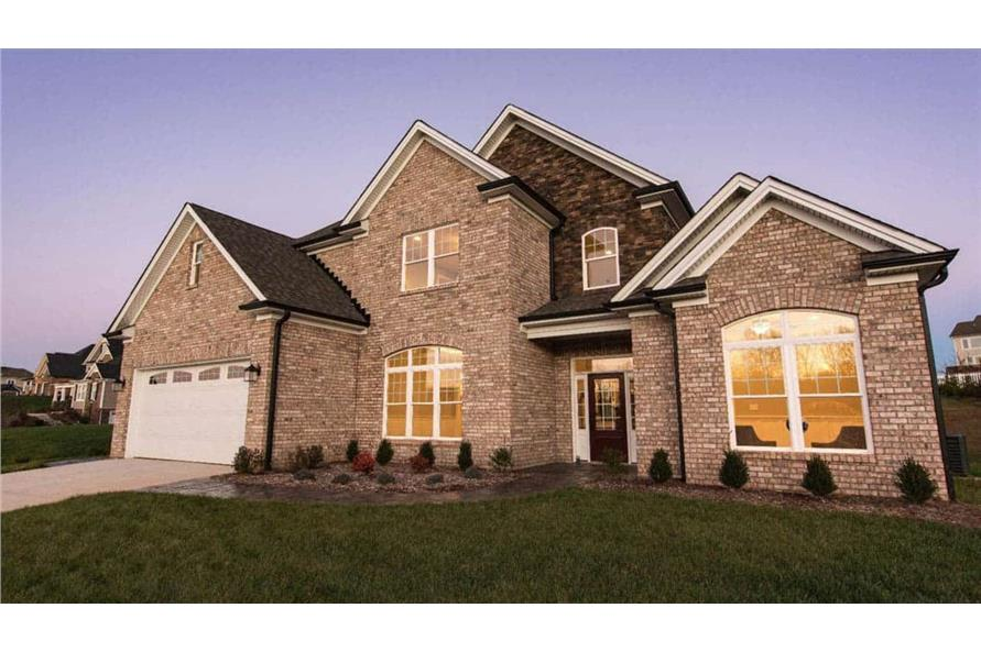 Front View of this 4-Bedroom,2585 Sq Ft Plan -153-1856
