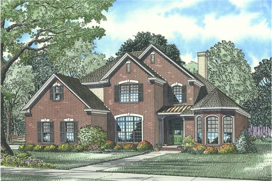 4-Bedroom, 2585 Sq Ft Traditional Home - Plan #153-1856 - Main Exterior
